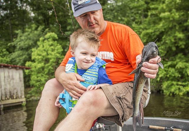 rybaření s dítětem