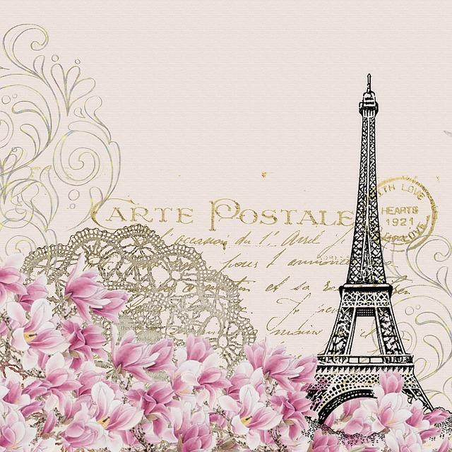 pohlednice s Eiffelovkou