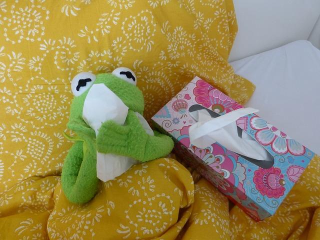 žába a kapesníčky
