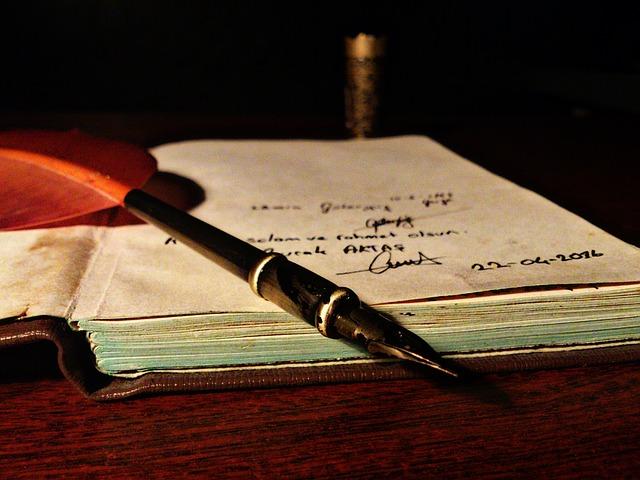 výbava spisovatele