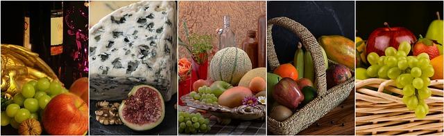 série obrázků zdravá strava