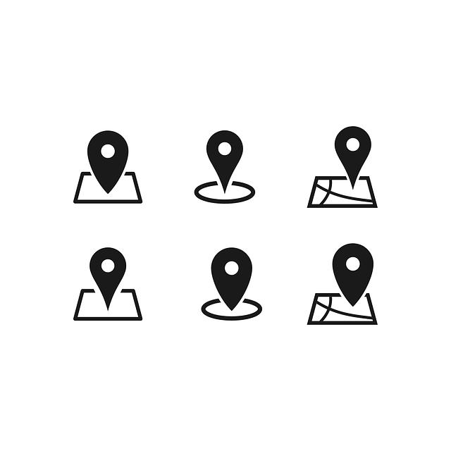 Značky polohy na mapě